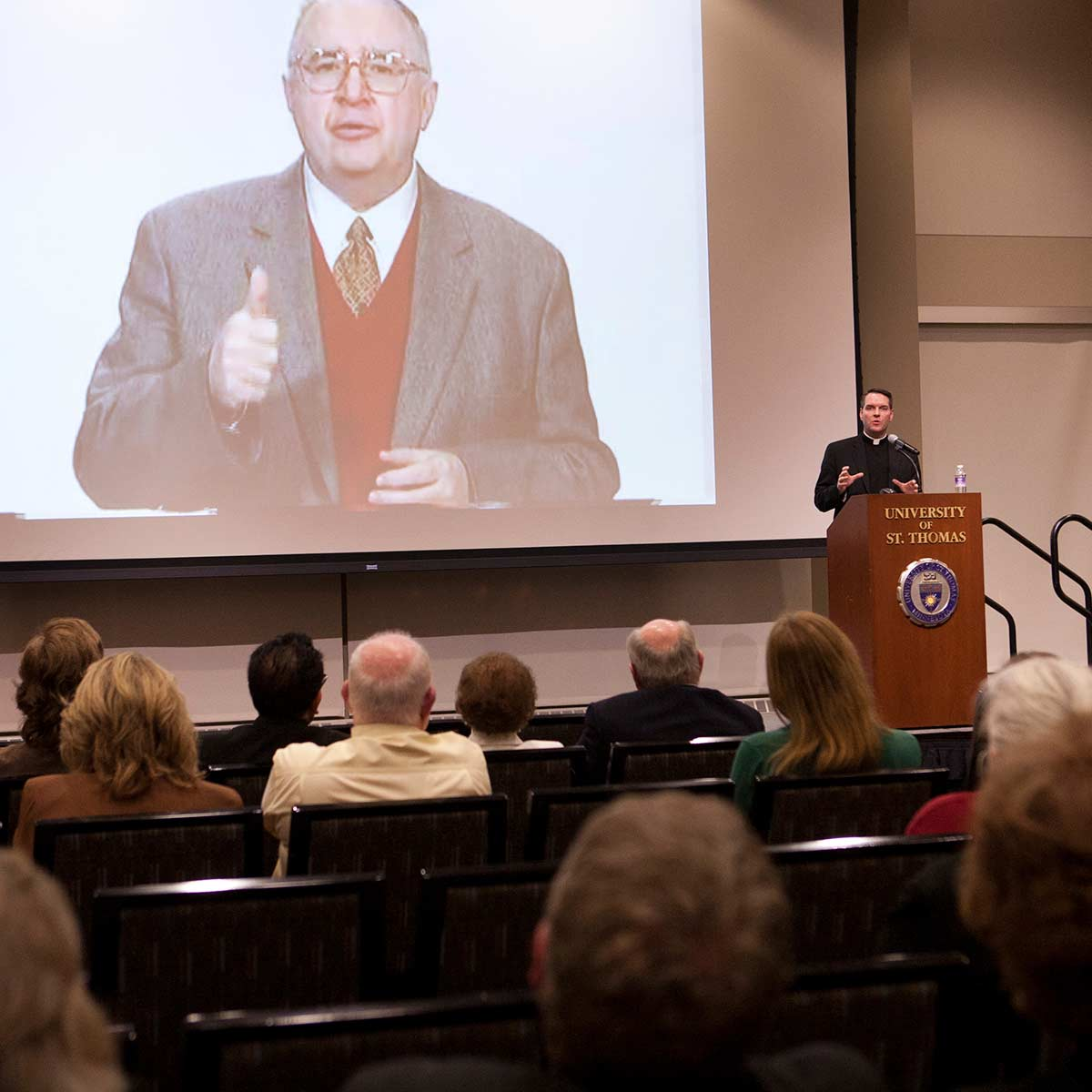 "Fr. James Burns speaks on ""Creating a Dynamic Vision of Catholic Mission and Identity"" on Friday, October 22, 2012."