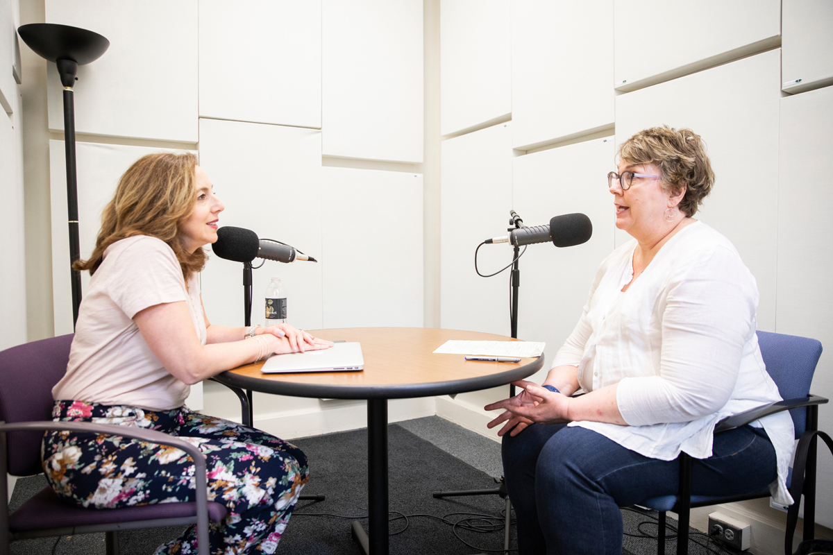 Opus faculty member Pat Hedberg talks with podcast host Ali Kaplan
