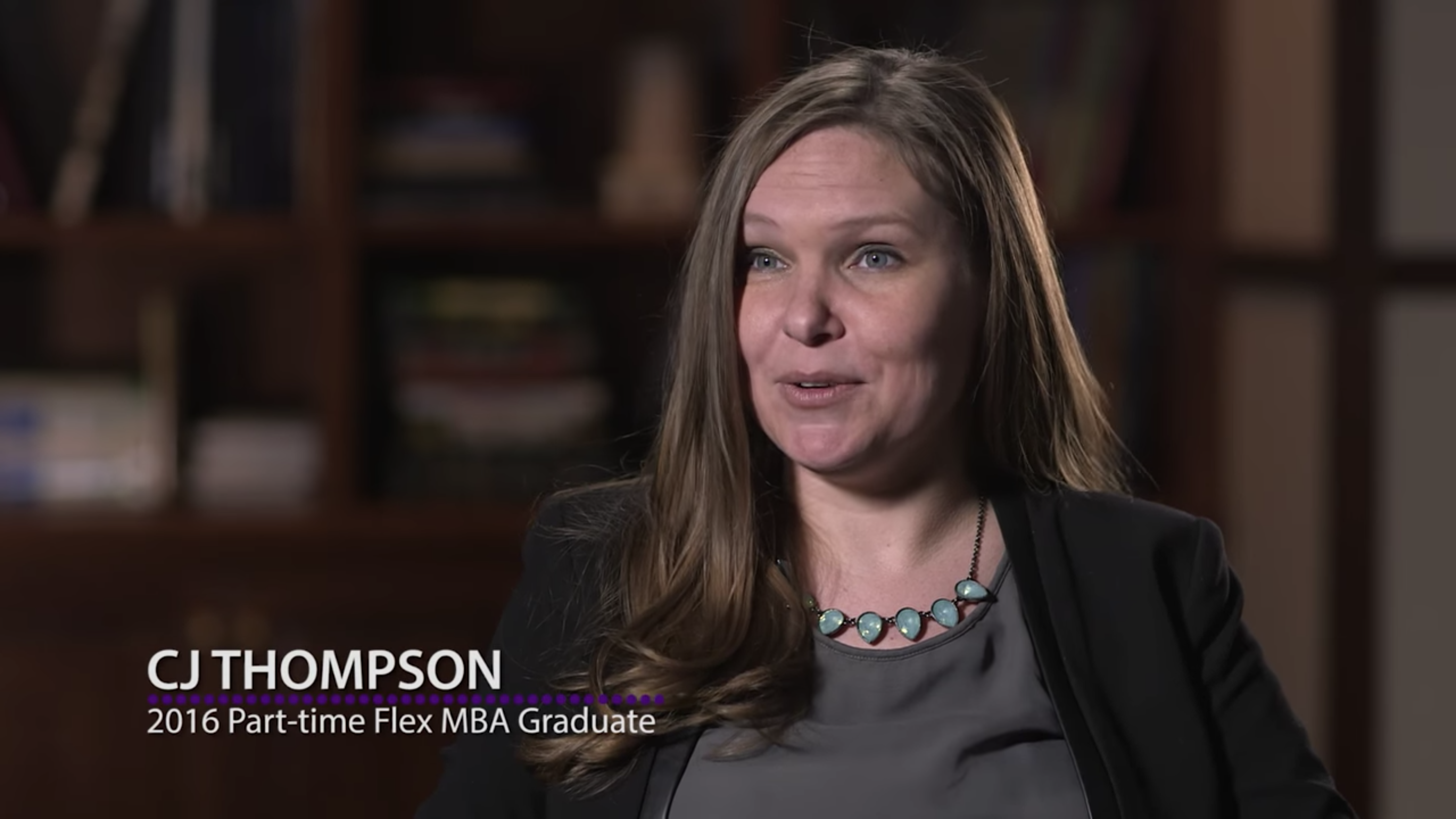 CJ Thompson '16 talks about her experience in the Part-time MBA program.