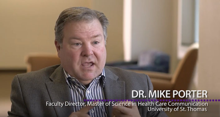 Dr. Mike Porter, faculty director, Master of Science in Health Care Communication talks about the program.
