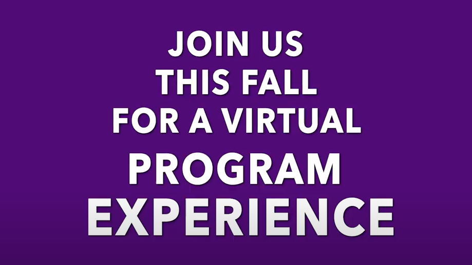 "Text that says ""what is a virtual program experience like?"""