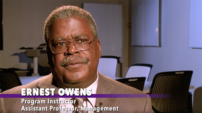 Ernest Owens, program instructor and assistant professor of management, states that the Certified Professional Project Manager program (CPPM) covers a full suite of issues that the project manager has to deal with.