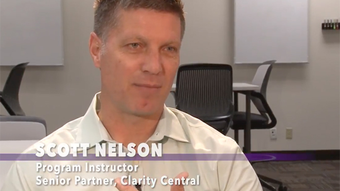 Scott Nelson, program instructor and senior partner, Clarity Central talks about the Influential Communication Program and how it impacts participants.
