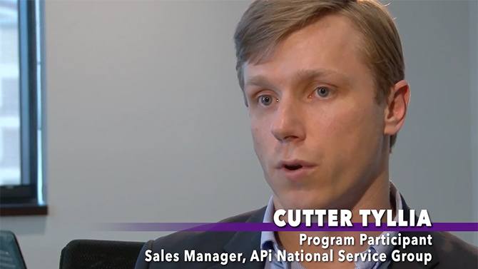 Cutter Tyllia, a sales manager at APi Group, participated in the Accelerated Readiness Program and talks about the benefits for himself and others in the company.