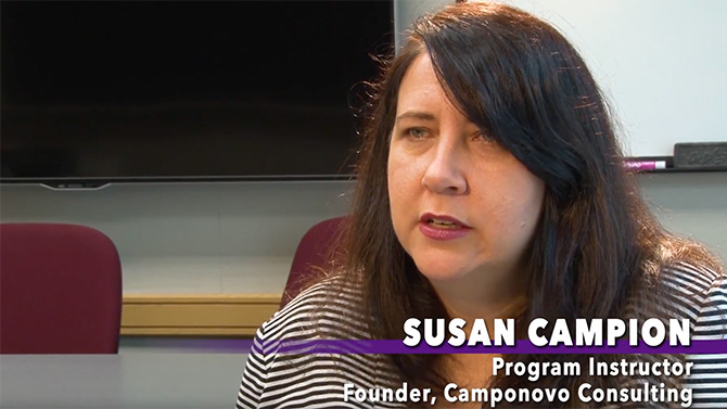 Susan Campion, program instructor and founder of Camponovo Consulting, gives some background on what Six Sigma is and why someone would start the Yellow Belt certificate course.